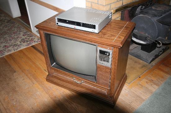 Blue Bucket Inn at 3E Ranch B & B: TV set from a different era