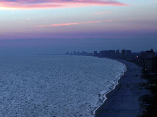 Treasure Island Resort Condominiums: Gulf coast at sunset (view from balcony)