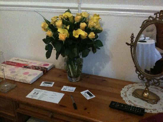The Old Rectory at Broseley: Flowers & chocolates on arrival