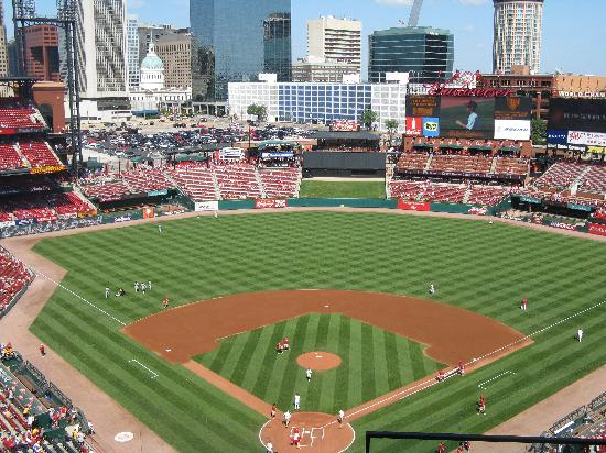From Behind Home Plate Picture Of Busch Stadium Saint Louis