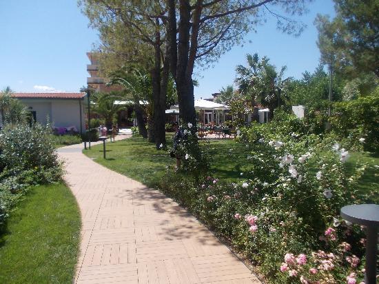 Hotel Acquario: un vialottolo del villaggio con molto verde