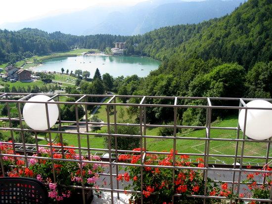 Hotel Caminetto: Vista laghetto di Lavarone