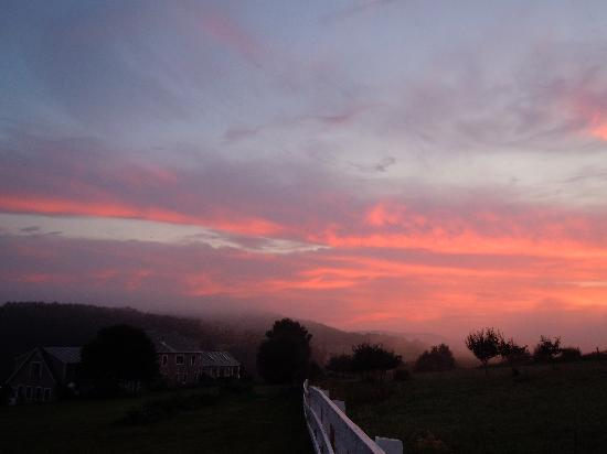 Dawn over Apple Hill Inn