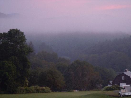 Apple Hill Inn: The other side of the house at dawn. Imagine this scene in the Fall