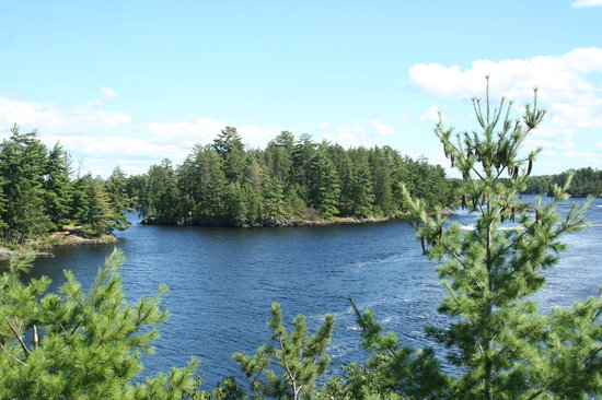 Voyageurs Nationalpark, MN: Site of the Hamms beer ad at Kettle Falls