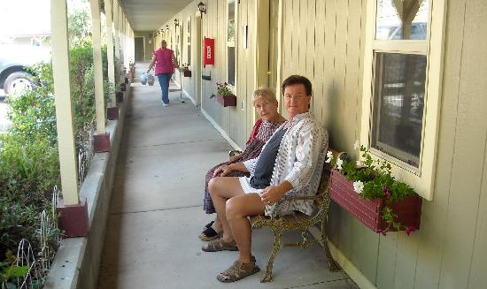 Virginia City Inn: ...on the front porch of the VC Motel