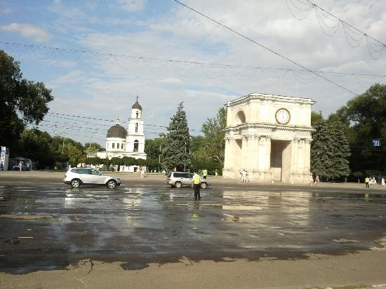 Chisinau, Moldavien: allée centrale