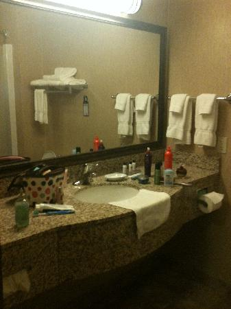 BEST WESTERN PLUS Capital Inn: large bathroom and large counter