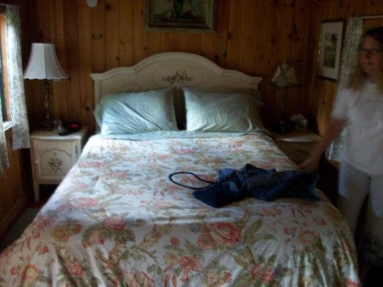 Enchanted Manor of Woodstock: cottage queen bed