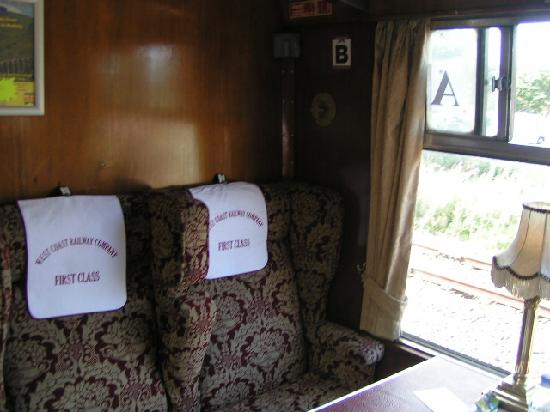 Jacobite Steam Train: 1st Class section