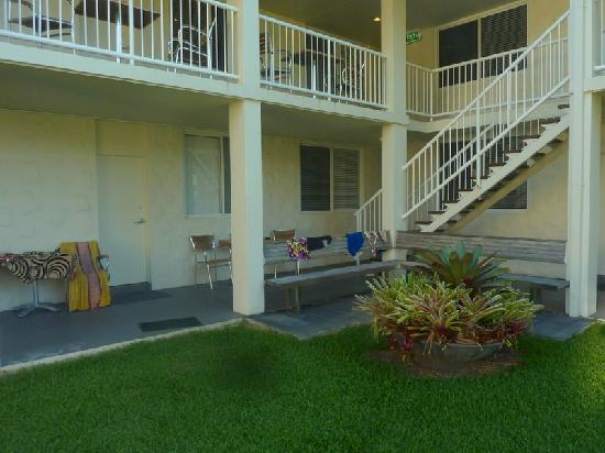 Friday on the Beach: our patio/walkway