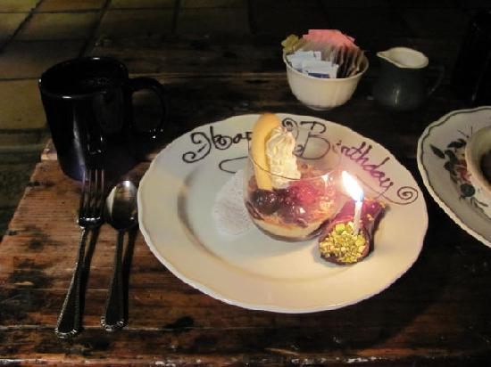 Ski Tip Lodge: My Birthday dessert!