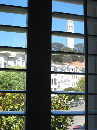 Washington Square Inn: The view from Room #11, looking east towards Telegraph Hill