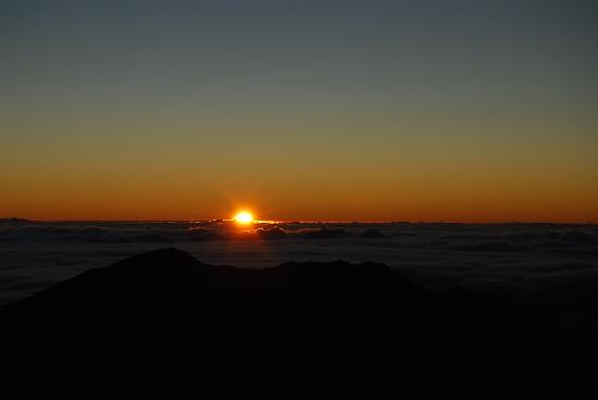 Paia, HI: Sunrise over Haleakala
