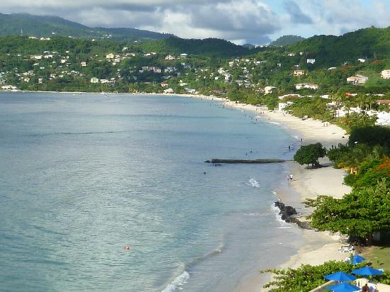 South Coast, Grenada: Grand Anse from Flamboyant