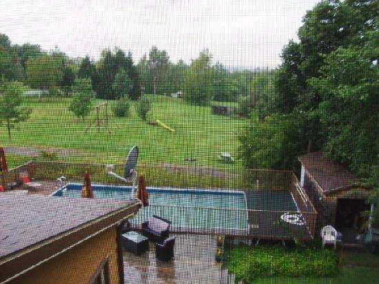 Auberge des Appalaches: La vue de notre chambre numéro 27