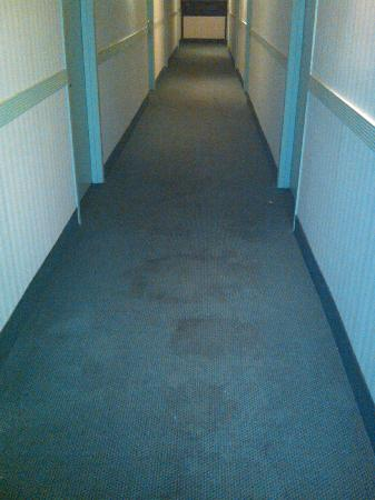Rodeway Inn Meadowlands: Hallway featuring unknown stains