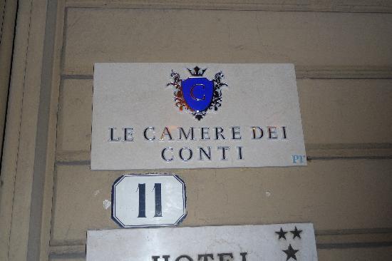 Entrance to Le Camere dei Conti