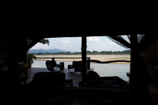Chamilandu Bushcamp - The Bushcamp Company: View from bed