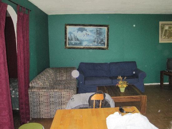 Lake of the Woods Resort/Motel: Living room