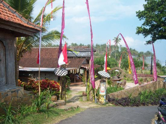 Pondok Pitaya: Hotel, Surfing and Yoga: First sight of the end of the road.