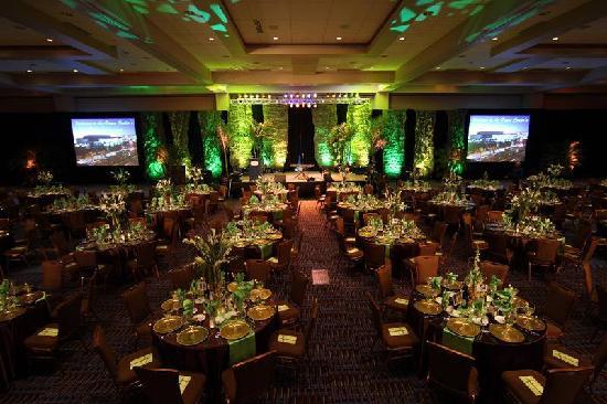 Ocean Center: A meeting room setup as a banquet room