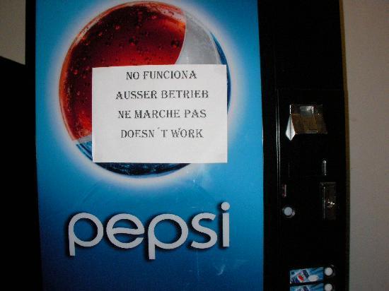 la meme affiche sur tous la même affiche sur tous les distributeurs de l'hotel picture of