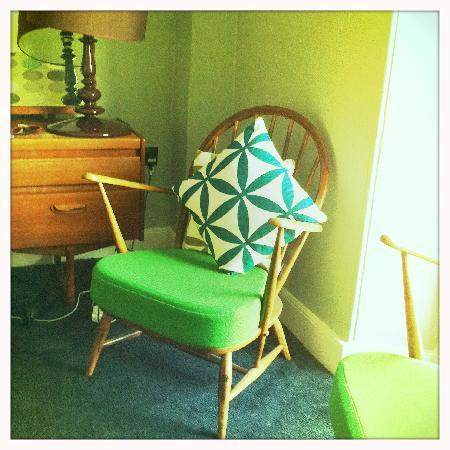 The Falmouth Townhouse: Quirky furniture and interiors in our room.