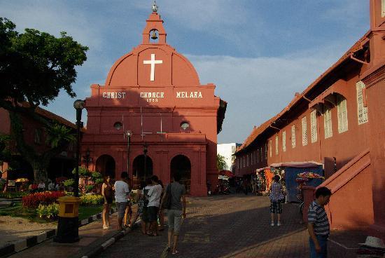 Jonker Boutique Hotel: De (oudhollandse)kerk in het historisch deel van Malakka