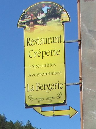 La Bergerie: Restaurant sign