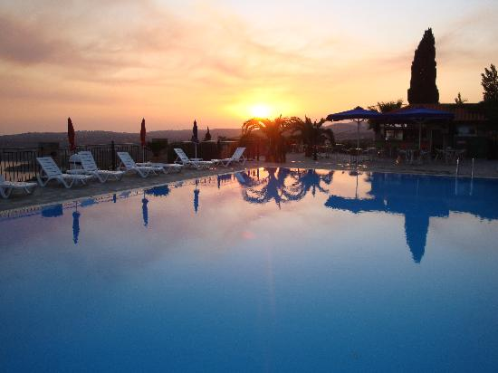 Lourdata, Greece: The pool at sunset