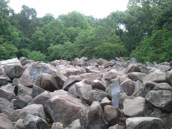 Ringing Rocks Park: A view of the many rocks