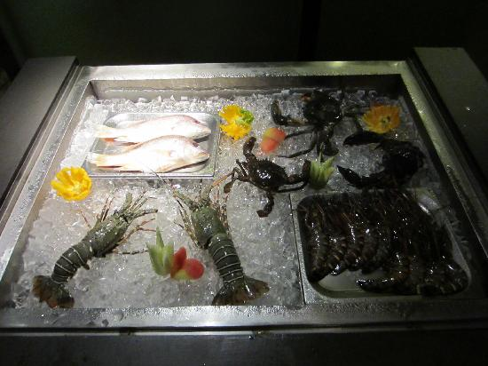 The fresh seafood at Spice Restaurant
