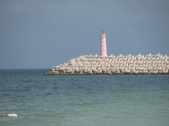 Beloved Playa Mujeres: Light house seen from the beach