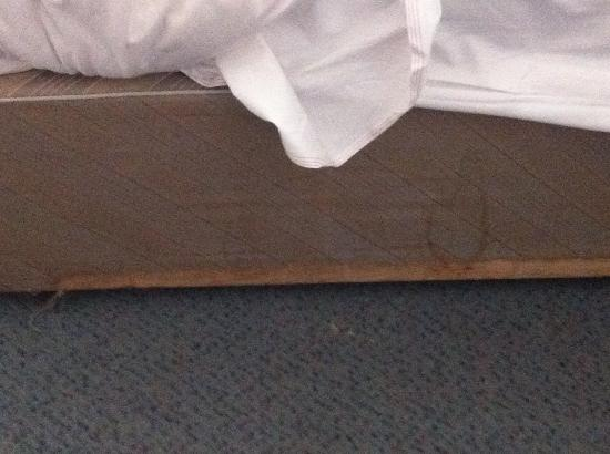 The Anchor Hotel: base of the bed badly stained