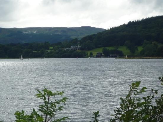 Bala Lake Railway: View of Llyn Tegid (Bala Lake) from the train