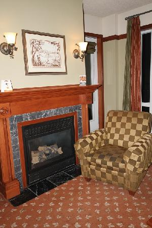 Sommet des Neiges : fireplace in the room