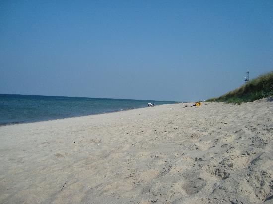 Klaipeda, Lithuania: the beach accessible from town Juodkrante