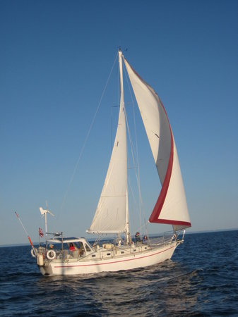 Knife River, MN: Amicus II, our 40-ft. steel sailboat