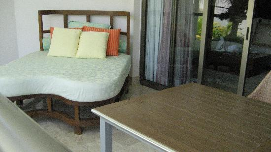 Excellence Playa Mujeres: outdoor bed on our patio