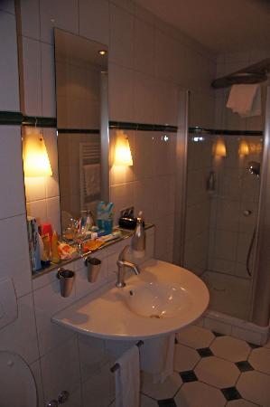 Hotel zum Weyssen Roessle: Modern shower room