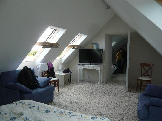 Hotel Vent D'Iroise : la camera mansarda per 5 persone