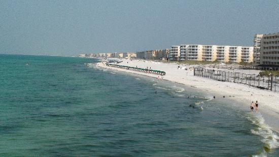 Okaloosa Island Pier View Of Beach From