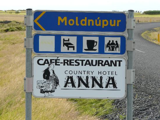 Country Hotel Anna: Billboard on ring road looks like the lower half of this sign (but this is not the actual sign)