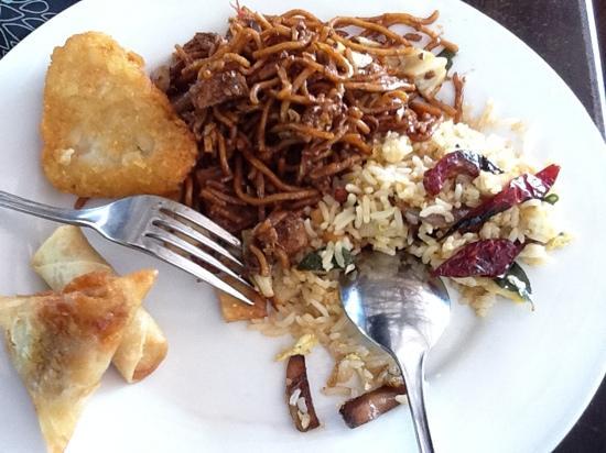 Pangkor Sandy Beach Resort: our breakfast -Sept01,2011.