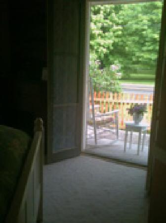 Thistledown Inn B&B: French doors open to the front porch from the 1st floor guest room