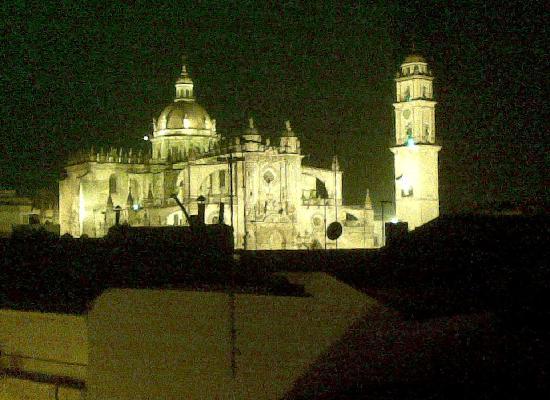 La Fonda Barranco: jerez cathedral seen from roof terrace