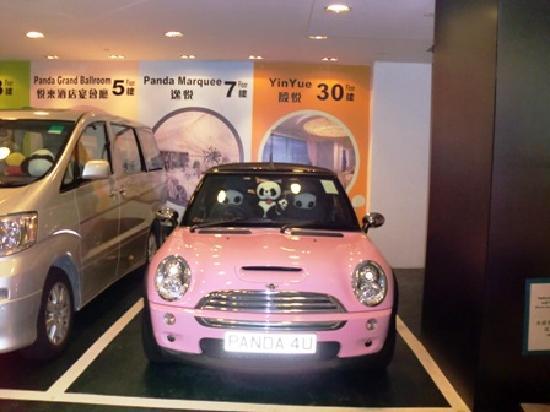 Panda Hotel: hotel駐車場