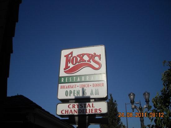 Foxy's Restaurant: l'insegna