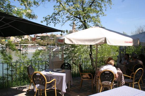 Kiosco de las Flores: View from restaurant
